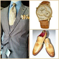 SUNDAY SPECIAL/OCCASION STYLE: Suit(Custom)-August Steiner(Watch overstock.com)-Amy Chan(Shoes)