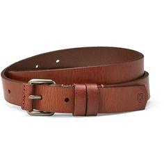 Liebeskind Leather Belt ($20) ❤ liked on Polyvore featuring accessories, belts, brown, genuine leather belt, brown belt, brown buckle belt, 100 leather belt and real leather belts