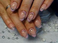 Pink Nails, Gel Nails, Nail Polish, Nail Art Hacks, French Nails, Simple Nails, Wedding Nails, Nail Art Designs, How To Make