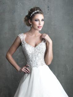 Satin Ballgown With Swarovski Crystal Allure Wedding Dress C305, Allure Bridals ~ Feenwedding.Com
