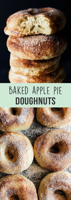Baked Apple Pie Doughnuts - Handle the Heat