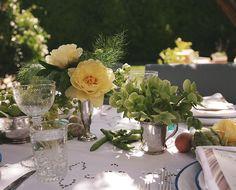 Beautiful table arrangement - Easter Brunch with Jenni Kayne