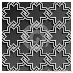 3d islamic geometric pattern background vector