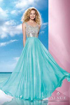 Aqua Alyce Paris 35599 Long Prom Gown
