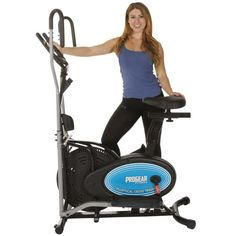 ProGear 400LS 2 Dual Trainer Elliptical  Exercise Bike with Pulse Sensor * Learn more by visiting the image link.