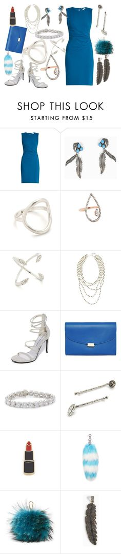 """""""Blue Fantasy"""" by hillarymaguire ❤ liked on Polyvore featuring Diane Von Furstenberg, Madewell, MAHA LOZI, Rebecca Minkoff, Kenneth Jay Lane, Stuart Weitzman, Mansur Gavriel, Marc Jacobs, Georgia Perry and Charlotte Simone"""
