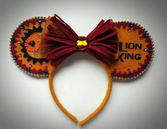 Líon King inspired Minnie Mouse Ears by MakeMeMinnie on Etsy