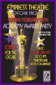 Acadamy Awards Live Broadcast - Oscar Party Feb 28th