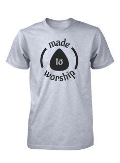 Made To Worship Lead Guitar Player Guitarist Music Worshiper Band Christian T-Shirt for Men Vinyl Shirts, Team Shirts, Boys Shirts, Christian Clothing, Christian Shirts, Jesus Shirts, African Men Fashion, Tee Shirt Designs, Christen