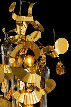 Kelp Fortuna, lighting design by William Brand of Brand van Egmond Custom Lighting, Modern Lighting, Lighting Design, Contemporary Chandelier, Contemporary Design, Pendant Lighting, Light Fixtures, Light Bulb, Chandeliers