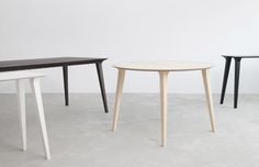 Lau table: simple, timeless design made from smooth wood