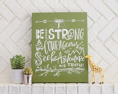 Be Brave Canvas #lindsaylettersshop