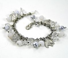 Polar Bear Bracelet Beaded Charm Bracelet by lovelandshadetree, $26.00
