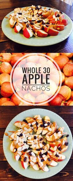 30 Apple Nachos Whole 30 Apple Nachos - fun amp; healthy snack for kids parties, brunches, or tailgating!Whole 30 Apple Nachos - fun amp; healthy snack for kids parties, brunches, or tailgating! Whole Foods, Whole 30 Snacks, Whole 30 Lunch, Whole 30 Diet, Whole 30 Breakfast, Whole Food Recipes, Whole 30 Meals, Whole 30 Drinks, Whole Food Desserts