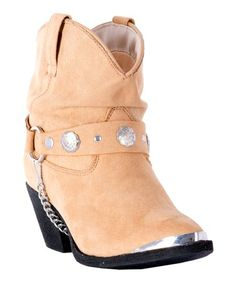 18265550cd6a5 Dingo Women's Slouchy Ankle Boots Women's Dingo fashion slouchy western ankle  boots in tan. A metal accent toe decoration and concho accented boot straps  ...