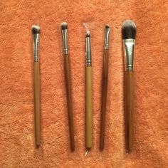Make Up Brushes  5 make up brushes, mostly for eyes, one larger one, all brand new, wood handle. Makeup Brushes & Tools