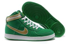 new concept 24171 db1db NIKE VANDAL CANVAS HIGH LUCKY GREENGOLD SALE 72.63