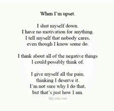 Yeah, I DID! Not anymore <3 I am DONE putting myself down because of the basics in this CRAZY thing we call life. <3 :)