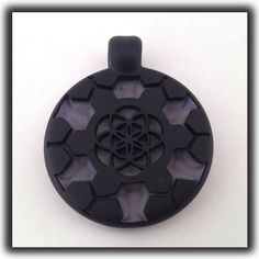 "Heady Hunter Borosilicate Glass Art Gallery | Jameson Siudut ""Inner Helm of Spiritual Guidance"" Medallion"