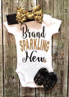 Brand Sparkling New Baby Girl Onesie - BellaPiccoli