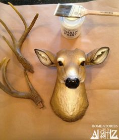 paint faux deer head to look as great as the expensive high end deer heads.  Instructions.