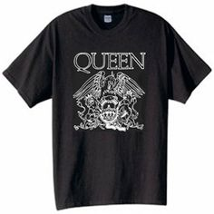 Queen Rock Band Logo Vintage Style T-Shirt Retro Music Size Vintage Band Tees, Vintage Shirts, Logo Vintage, Vintage Style, Queen Rock Band, Rocker Look, Band Shirts, Band Merch, Cool Shirts