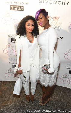 Splurge: Toya Wright's Reginae Carter Sweet 16 Jovani White Feather Trimmed Lace Mini Dress (via Bloglovin.com )