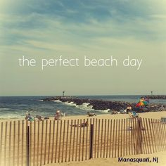 the perfect beach day | Manasquan, NJ