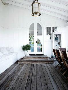 reclaimed wood floors.