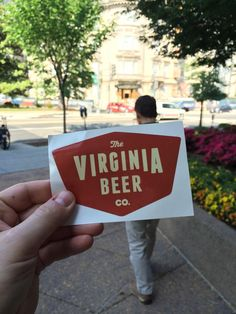 """""""You ghosted us, @AVGlacel! @FlintFBD and I were ready to bust out the @VirginiaBeerCo #craftbeer corporate card in DC."""" The #BurgBeer card: don't leave home without it!"""