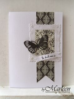 byMarleen: Kaarten met zwart... Marianne Design, Condolences, Butterfly Cards, Sympathy Cards, I Card, Cardmaking, Diy And Crafts, Projects To Try, Inspiration