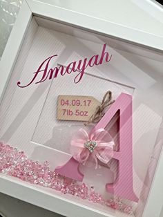 New Baby Initial Box Frame