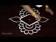 creative and easy rangoli designs with dots * simple kolam designs * muggulu designs with colors - YouTube