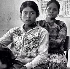 Niñas Triquis de 6 año. Río Venado, Oaxaca.