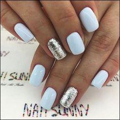 new years nails short / new years nails ; new years nails acrylic ; new years nails gel ; new years nails glitter ; new years nails dip powder ; new years nails design ; new years nails short ; new years nails coffin Cute Acrylic Nails, Cute Nails, Pastel Nails, Acrylic Nail Designs, Nail Art Designs, Nails Design, Light Blue Nail Designs, Pedicure Designs, Shellac Nail Designs