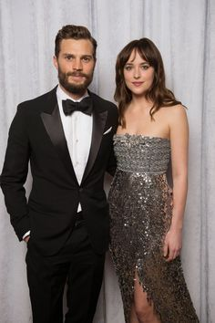 Fifty Shades Updates: HQ Photo: Portrait of Dakota Johnson and Jamie Dornan at the Golden Globes