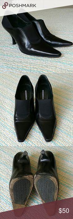 "Donald Pliner Black Leather Ankle Booties Boots 6 Donald Pliner Black Leather Ankle Booties Boots 3"" Heels Women's Size 6 M Donald J. Pliner Shoes Ankle Boots & Booties"