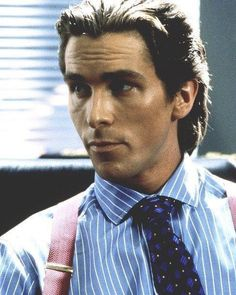 Christian Bale in American Psycho Batman Christian Bale, American Psycho, Akira, Chris Bale, New Wave, Phil Collins, British Actors, American Actors, Horror Films