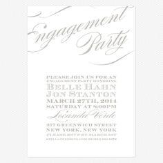 Cheri Engagement party invitation www.lovevsdesign.com