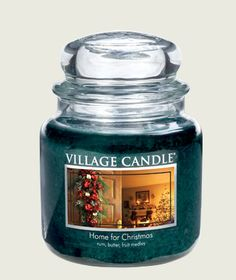 Home Decor Village Candle Fresh Strawberries PACK OF 3 Medium Candle Jar 16oz BRAND NEW