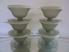 Vintage 1980's Tupperware Stacking Stemmed by BonniesVintageAttic, $15.00