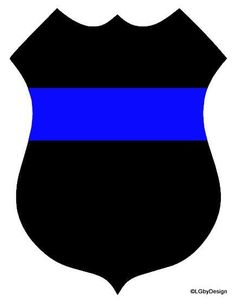 Police Badge Decal with Stripe...This car decal design is perfect for someone that either has a significant other in law enforcement, or are in law enforcement themselves!