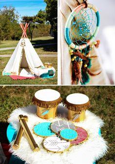 Tribal Affair ~ boho party ideas from hwtm