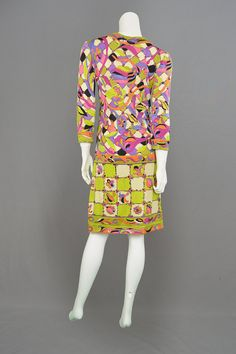 Vintage 60s EMILIO PUCCI Silk Jersey Knit Shift by ZeusVintage