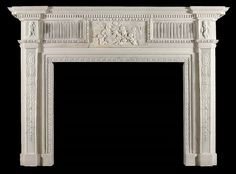 putti tablet marble fire surround