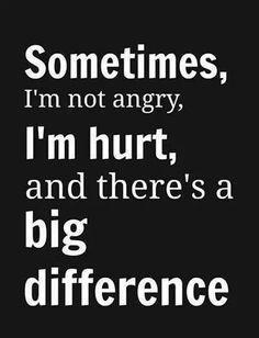 I'm not mad, I'm hurt...
