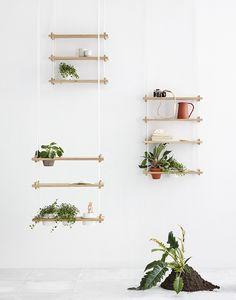 DIY Inspiration | Suspension Shelves for Plants
