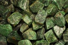 Fantasia Materials: 1 lb Dark Green Aventurine Rough - (Select 1 to 18 lbs) - Raw Natural Crystals for Cabbing, Cutting, Lapidary, Tumbling, Polishing, Wire Wrapping, Wicca and Reiki Crystal Healing