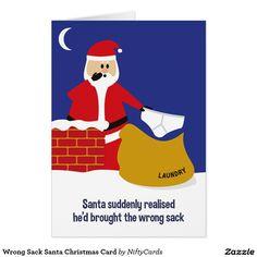 Wrong Sack Santa Christmas Card