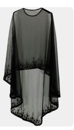 Bhaavya Bhatnagar presents Black floral beads embroidered cape available only at Pernia's Pop Up Shop. Bridal capelet Bridal cover up Lace cover up by HanakinLondon Not departs but quite close to the idea. Cape/ kind of shrug Discover thousands of images Abaya Mode, Mode Hijab, Hijab Styles, Cape Dress, New Dress, Dress Prom, Chiffon Dress, Chiffon Blouses, Abaya Fashion